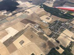 3ème journée - Vue aérienne de la piste juste avant le départ