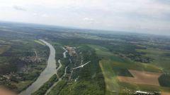 Le terrain bordé par la Seine