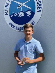 Paul Kirchberger, jüngster Teilnehmer und 1. Außenlander des Bewerbes. alles iO
