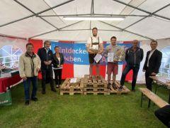 Herzbergland-Cup 2020: in der MItte, leider schon auf Heimreise 2. David Leemann (CH), Gewinner Lukas Kirchberger (Stmk), 3. Nico Jägli (CH)